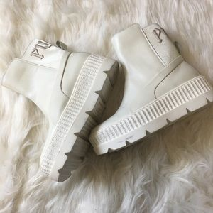 Fenty leather creeper boots